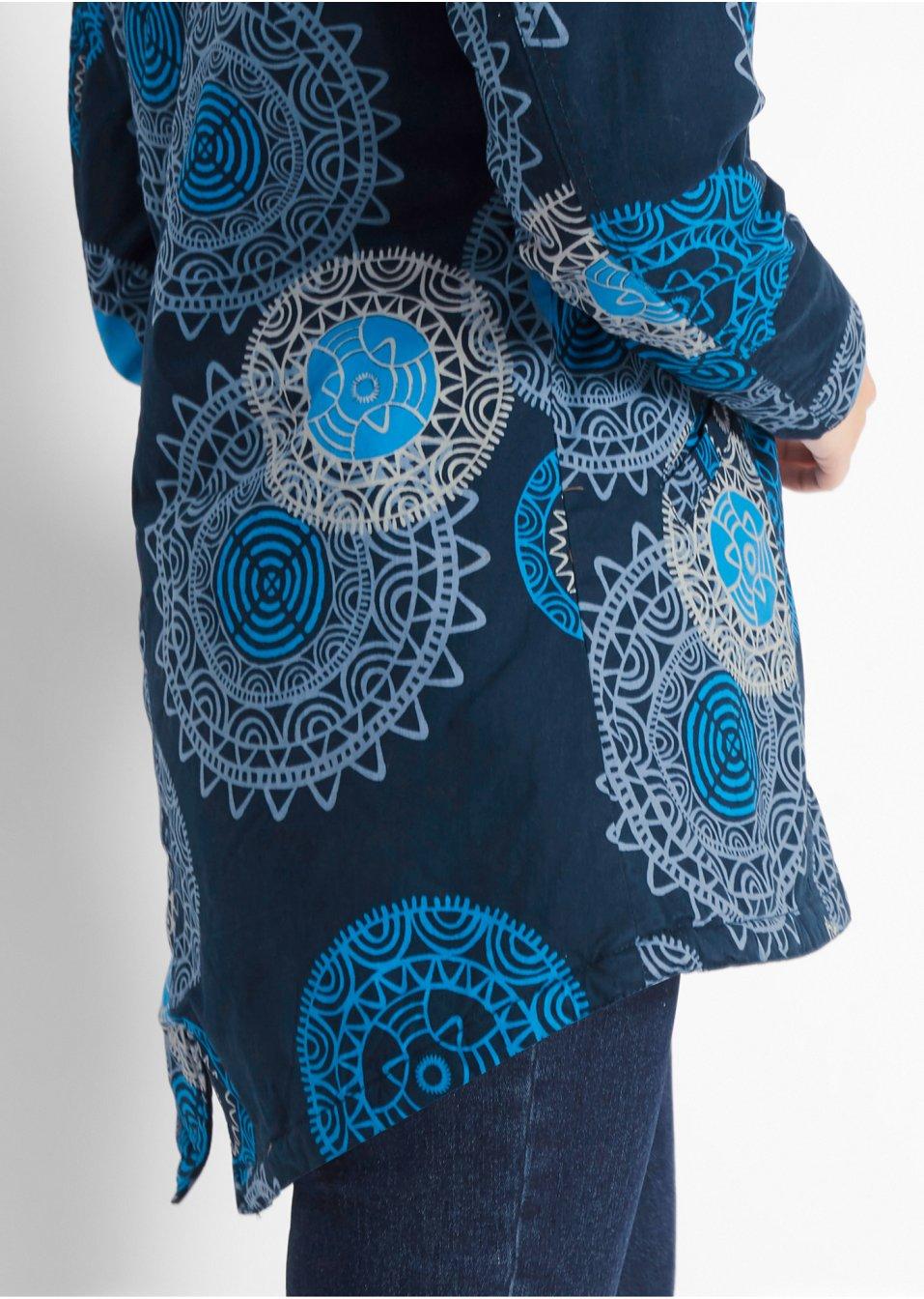 Mode Femme Vêtements DJLfdOFlkj Parka imprimée à capuche bleu foncé imprimé bpc  collection commande online .fr