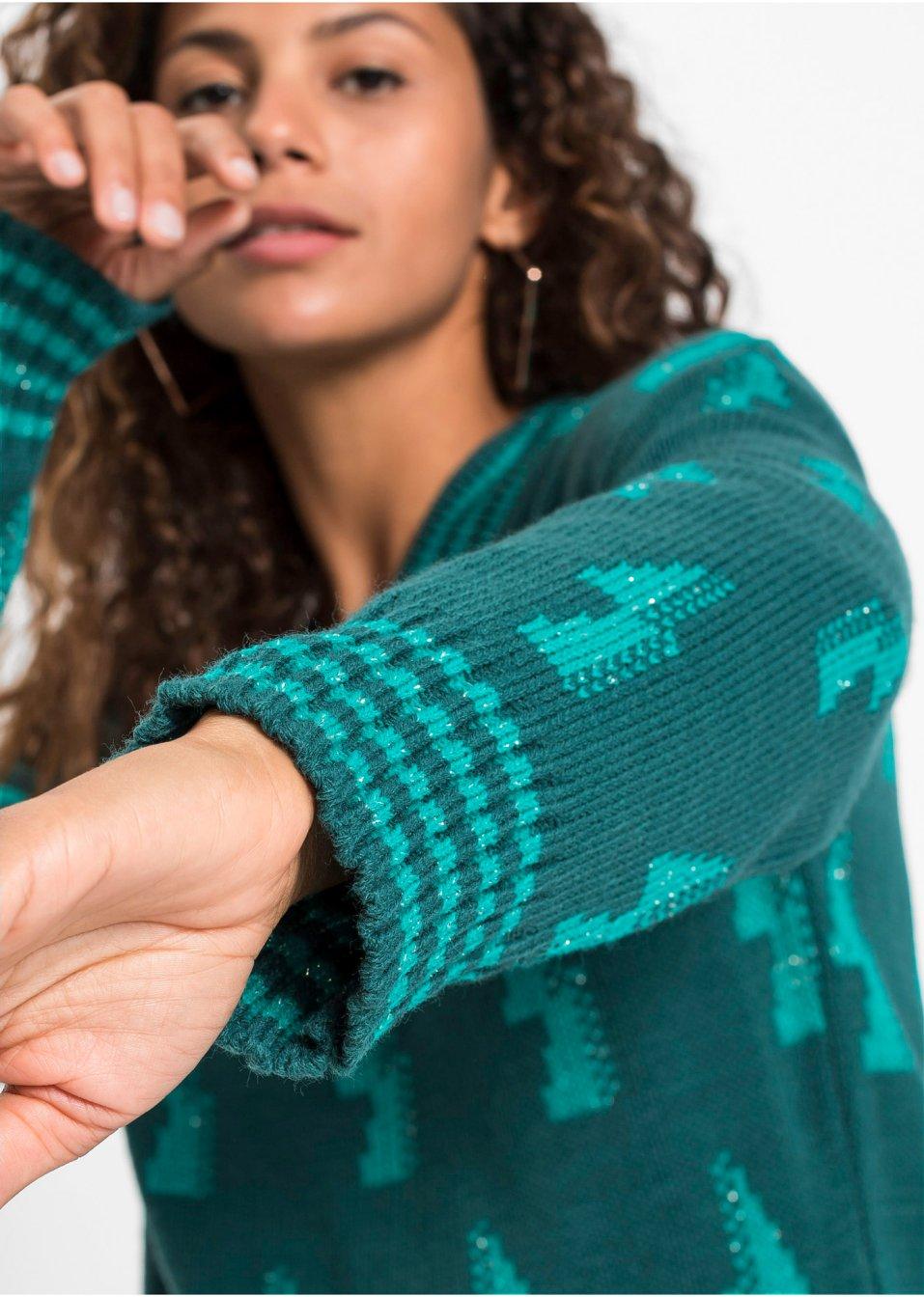 Mode Femme Vêtements DJLfdOFlkj Pull à motif bicolore pétrole/émeraude RAINBOW acheter online .fr