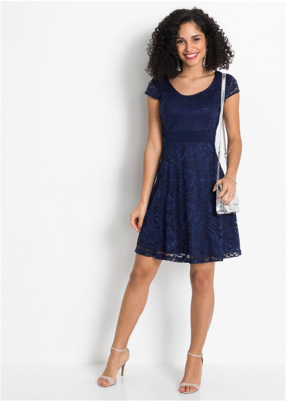 Mode Femme Vêtements DJLfdOFlkj Ravissante robe avec ruban à la taille bleu foncé