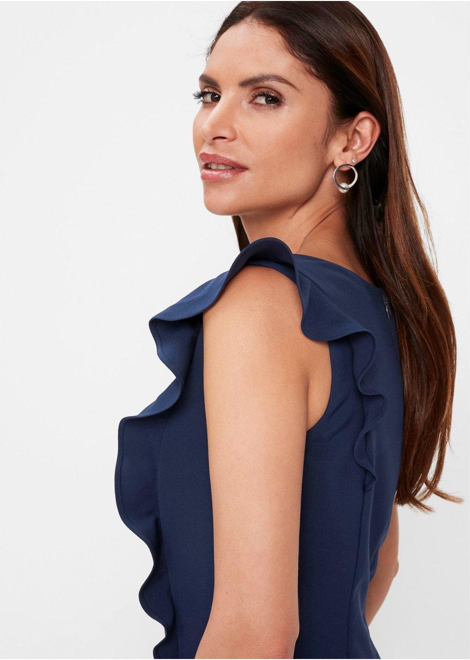 Mode Femme Vêtements DJLfdOFlkj Robe fourreau bleu foncé bpc selection premium acheter online .fr