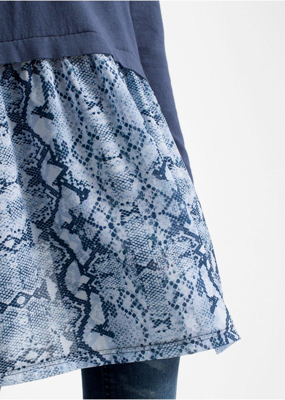 Mode Femme Vêtements DJLfdOFlkj Pull à empiècement jupe indigo/python RAINBOW commande online .fr