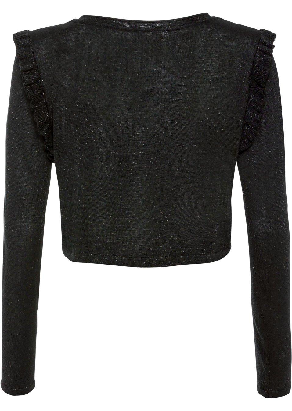 Mode Femme Vêtements DJLfdOFlkj Boléro en maille pailletée noir Femme BODYFLIRT boutique .fr