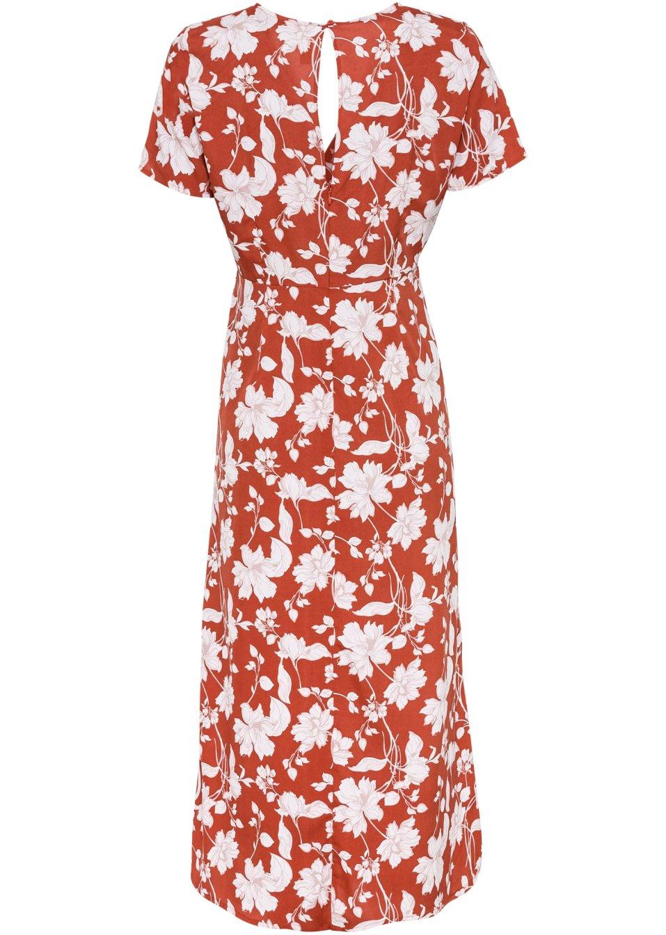 Mode Femme Vêtements DJLfdOFlkj Robe midi rouge/blanc imprimé Femme RAINBOW .fr