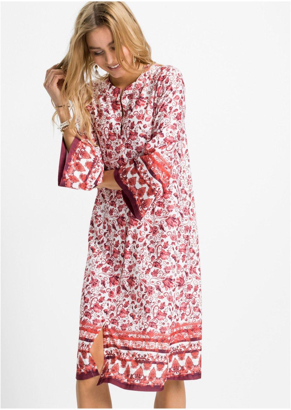 Mode Femme Vêtements DJLfdOFlkj Robe caftan rouge/rouge clair imprimé RAINBOW acheter online .fr