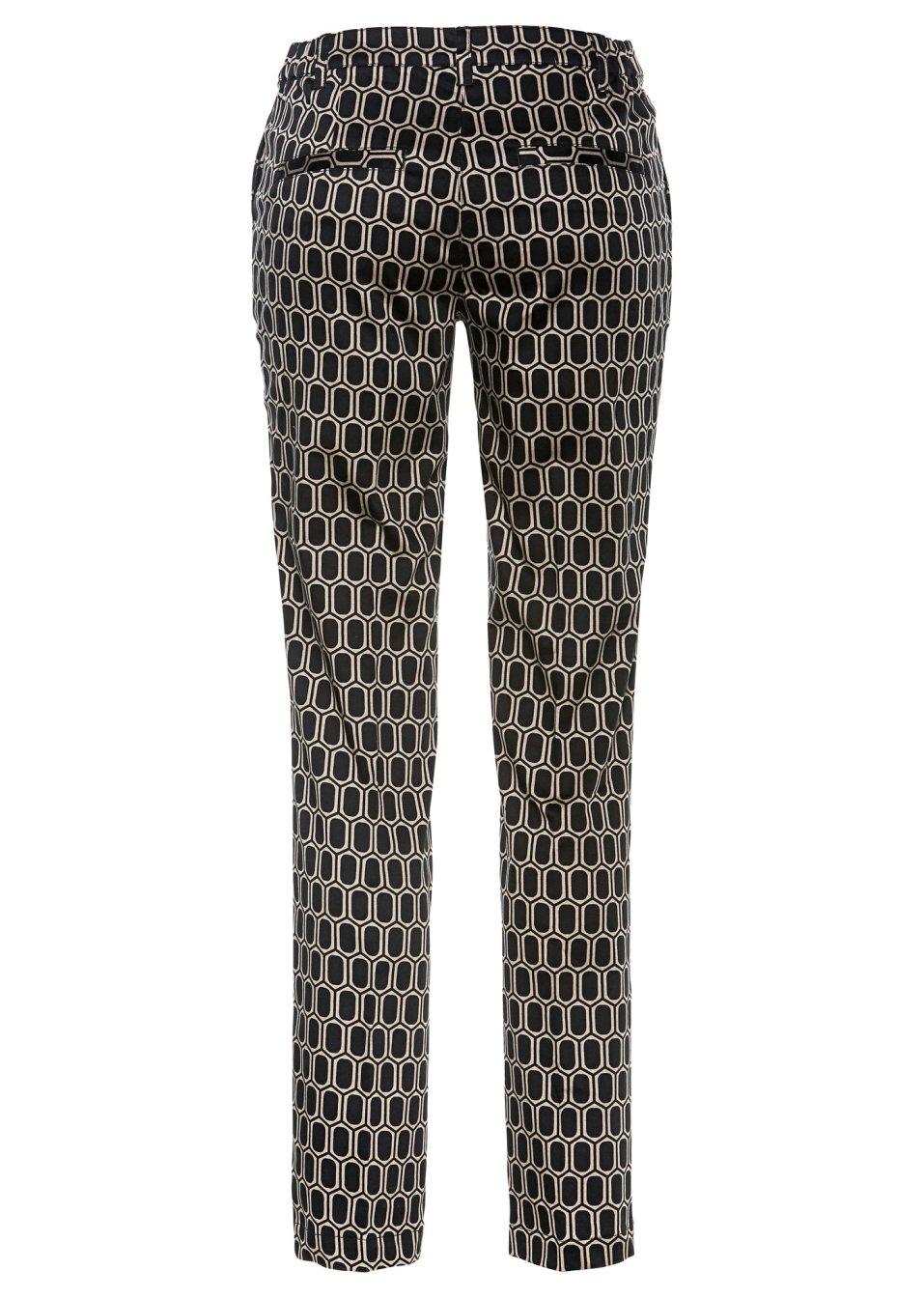 Mode Femme Vêtements DJLfdOFlkj Pantalon taupe/noir imprimé bpc selection .fr