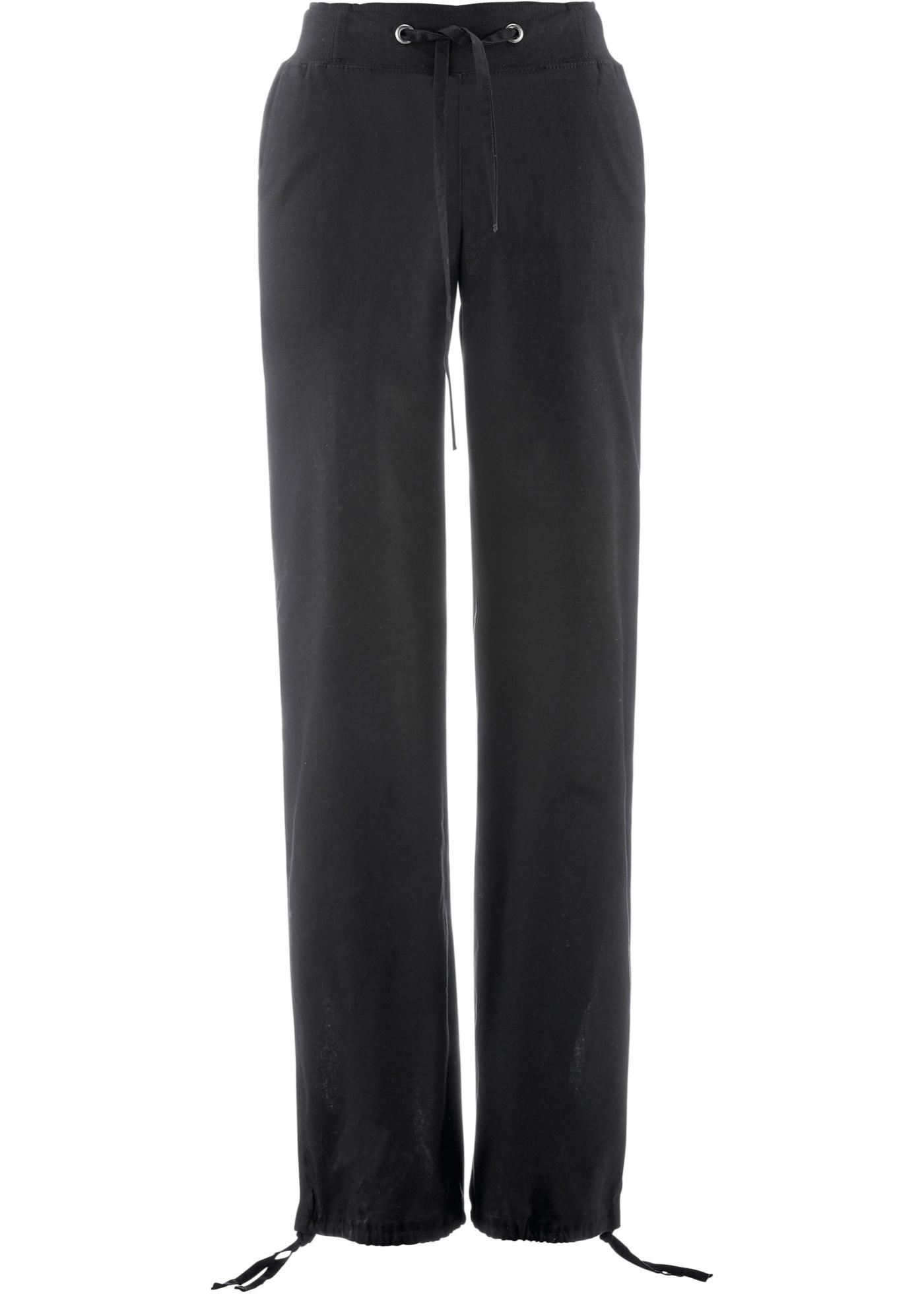 b87dcc51e1e3 Pantalon mélangé lin avec taille côtelée