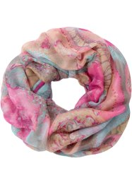 Snood Roses, bpc bonprix collection, fuchsia/gris
