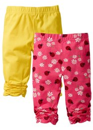 Lot de 2 leggings, bpc bonprix collection, capucine/coccinelle