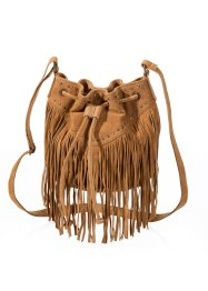 Sac à franges en cuir, bpc bonprix collection, bronze