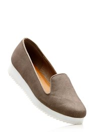 Slippers plateau, bpc bonprix collection, taupe