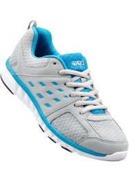 Tennis confortables, bpc bonprix collection, gris clair/turquoise