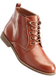 Bottines à lacets en 2 largeurs, bpc bonprix collection, cognac