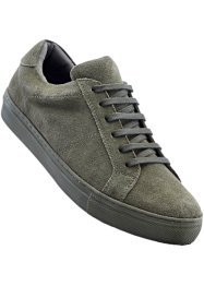 Sneakers en cuir, bpc bonprix collection, olive