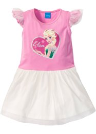 Robe en jersey REINE DES NEIGES, Disney, rose/beige