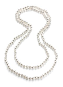 Long collier en perles, bpc bonprix collection, blanc
