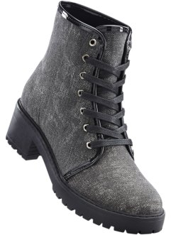 Bottines à lacets, RAINBOW, anthracite chiné