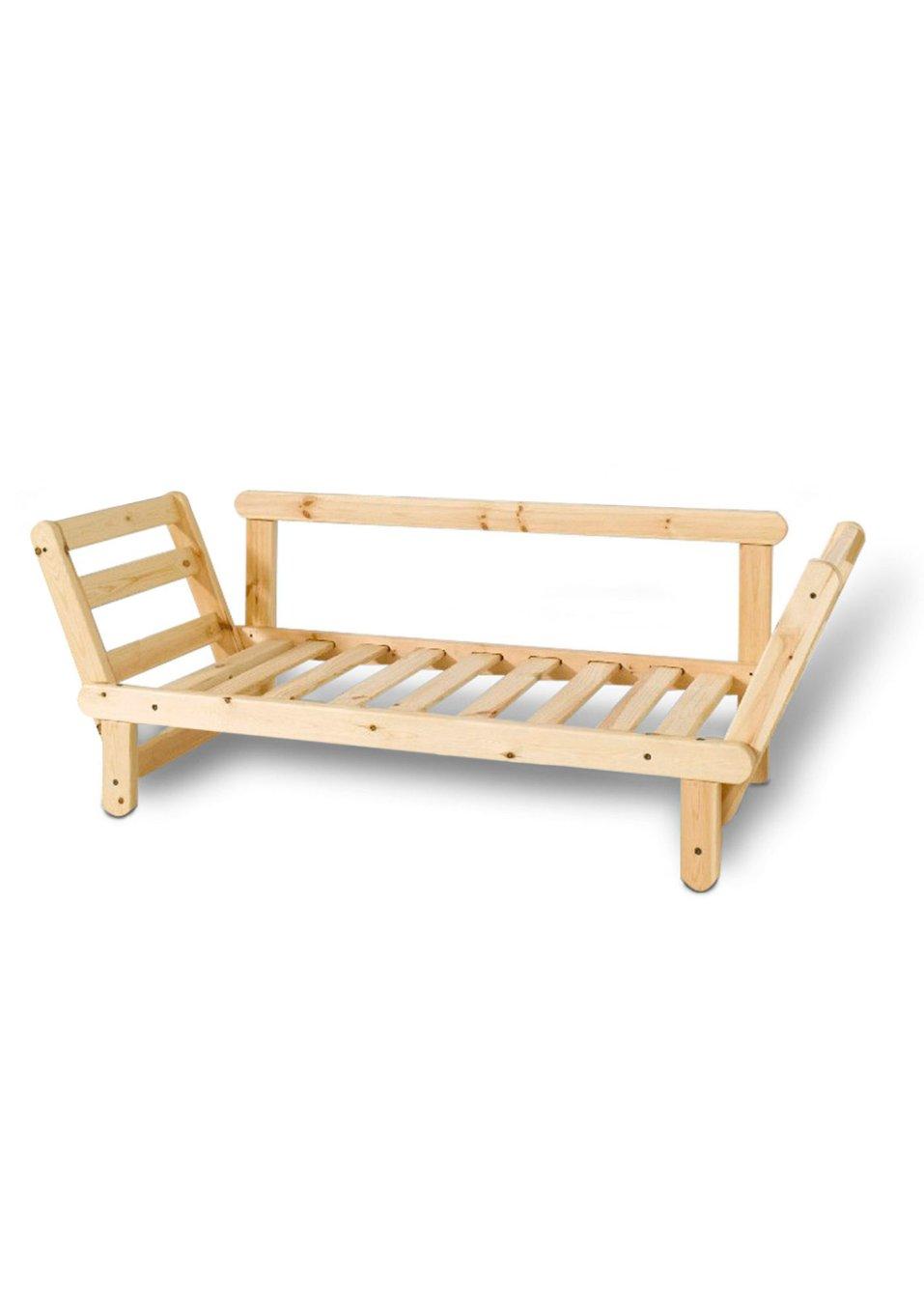 cadre de canap lit futon naturel maison bpc living. Black Bedroom Furniture Sets. Home Design Ideas