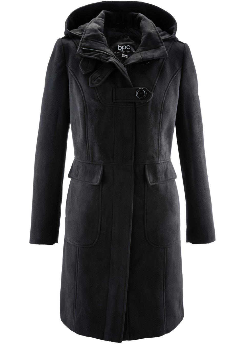 manteau noir femme. Black Bedroom Furniture Sets. Home Design Ideas