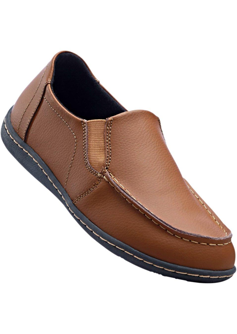 slippers en cuir camel bpc selection acheter online. Black Bedroom Furniture Sets. Home Design Ideas