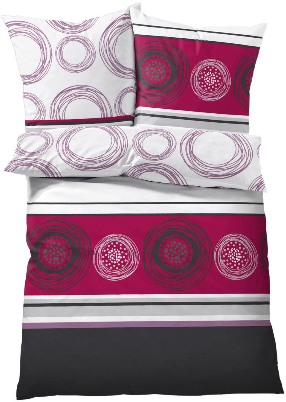 parure de lit cercles prune maison. Black Bedroom Furniture Sets. Home Design Ideas
