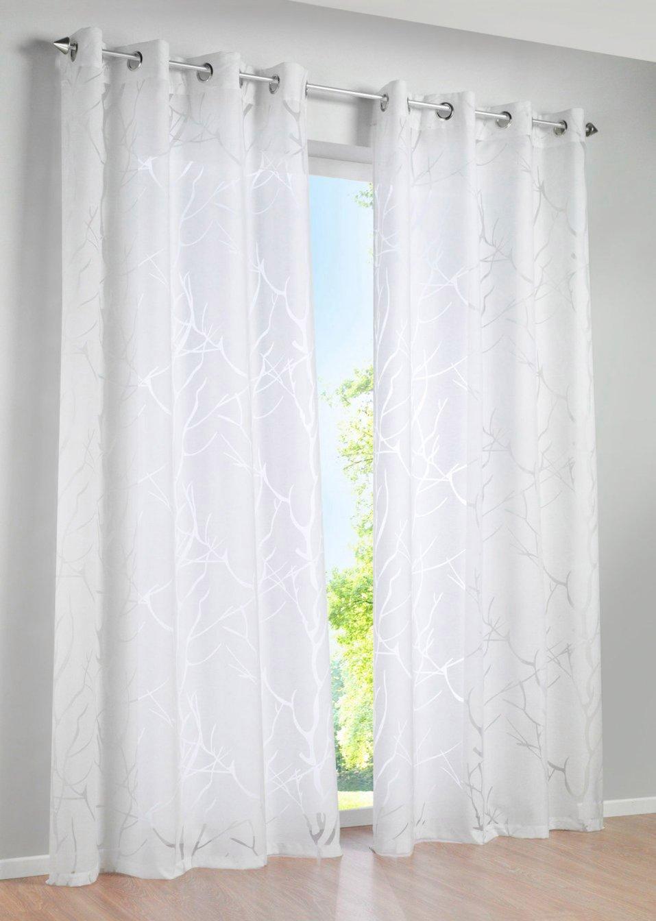 voilage royan 1 pce blanc maison bpc living. Black Bedroom Furniture Sets. Home Design Ideas