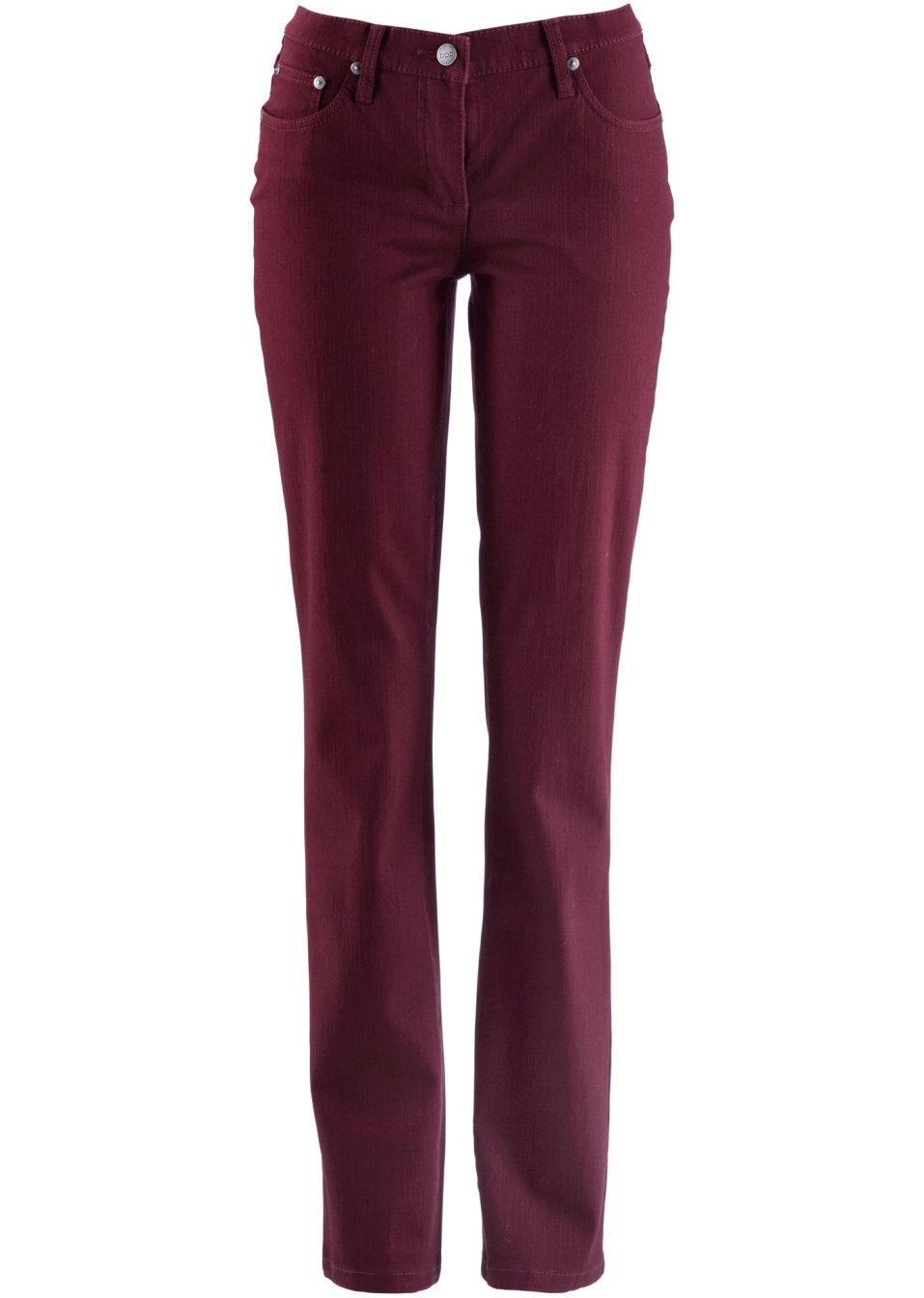 Pantalon stretch en twill avec coupe droite l g rement - Code reduction point rouge la redoute ...