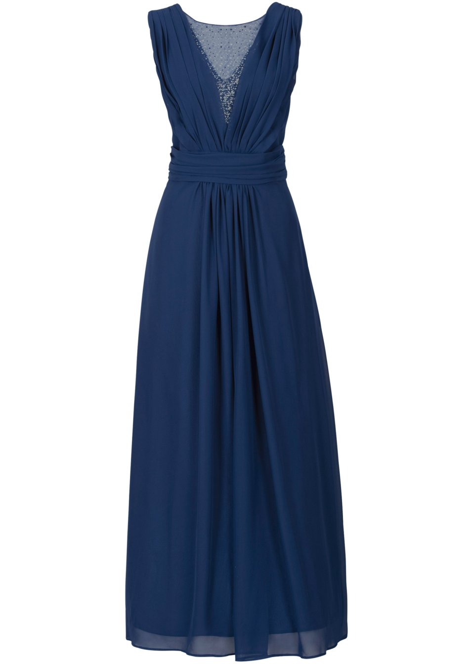 robe longue bleu nuit bodyflirt. Black Bedroom Furniture Sets. Home Design Ideas