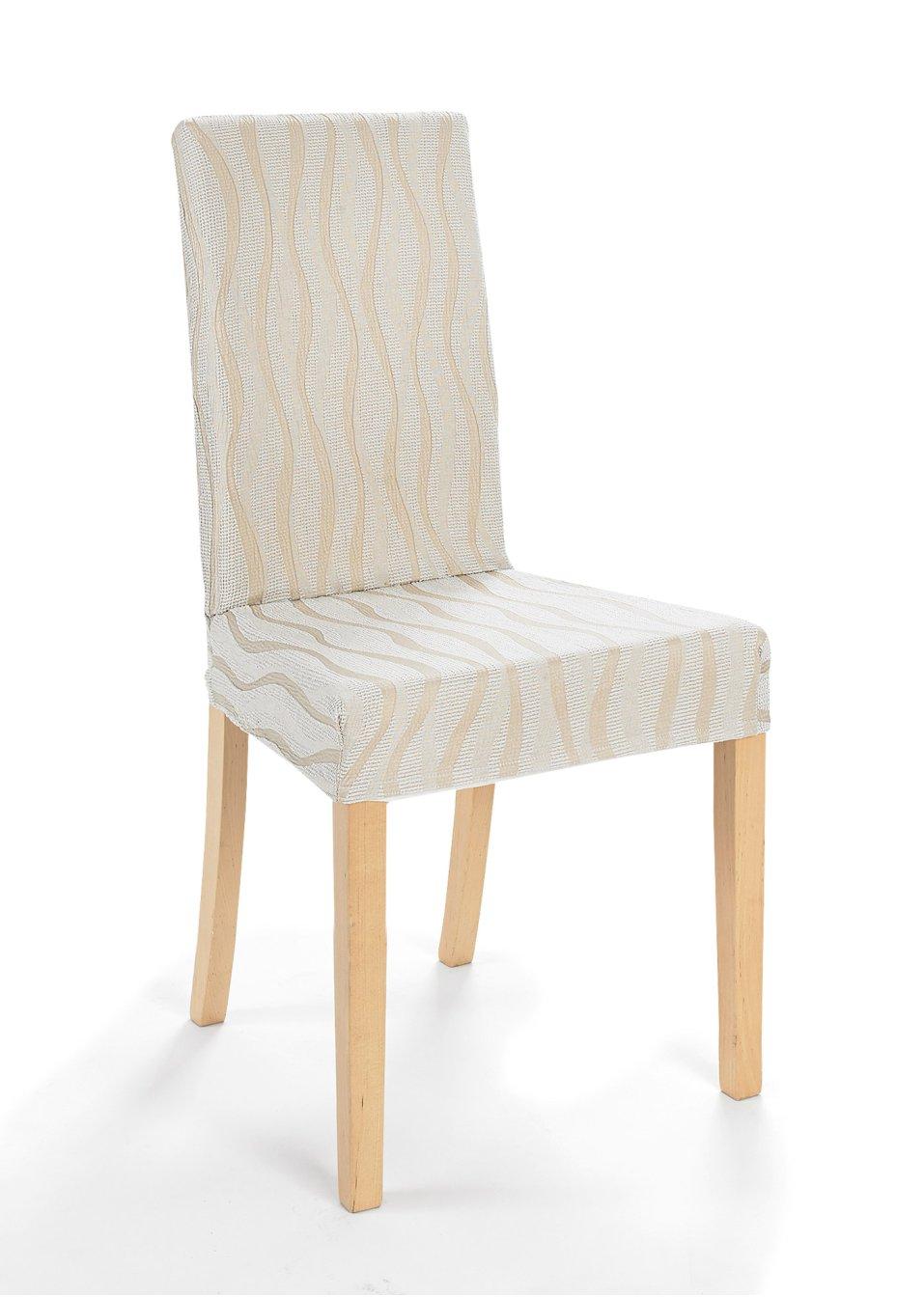 Housse de chaise vienna beige maison - Housse de chaise beige ...