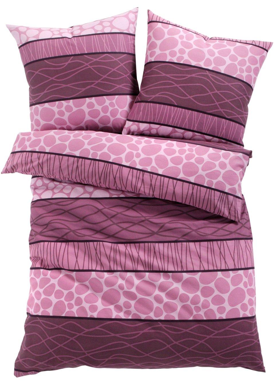 linge de lit estelle prune bpc living commande online. Black Bedroom Furniture Sets. Home Design Ideas