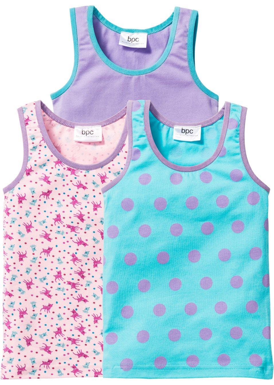 lot de 3 tricots de peau t 92 98 152 158 bleu ciel mauve rose poudr imprim commande online. Black Bedroom Furniture Sets. Home Design Ideas