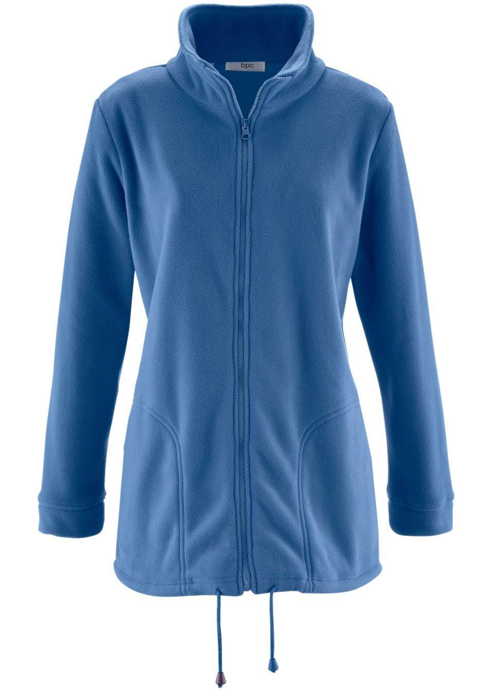gilet polaire manches longues gris bleu femme. Black Bedroom Furniture Sets. Home Design Ideas