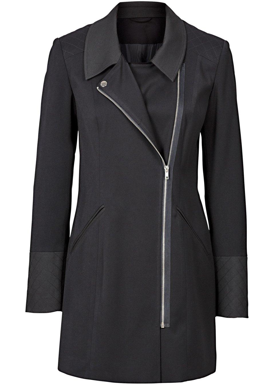 blazer long noir. Black Bedroom Furniture Sets. Home Design Ideas