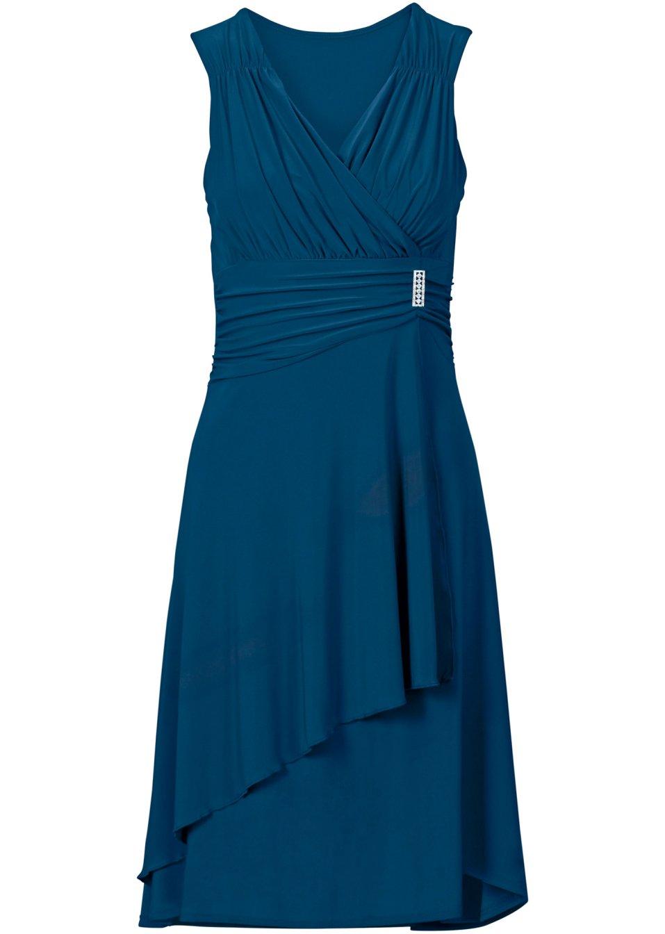 robe avec application bleu femme. Black Bedroom Furniture Sets. Home Design Ideas