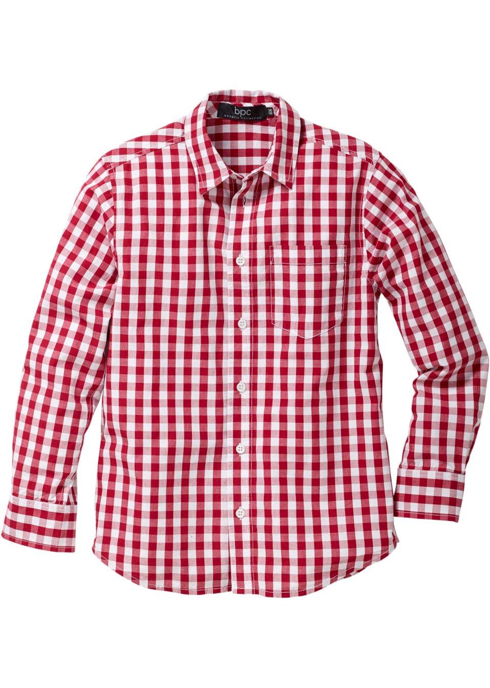 chemise carreaux avec petite poche sur le devant rouge. Black Bedroom Furniture Sets. Home Design Ideas