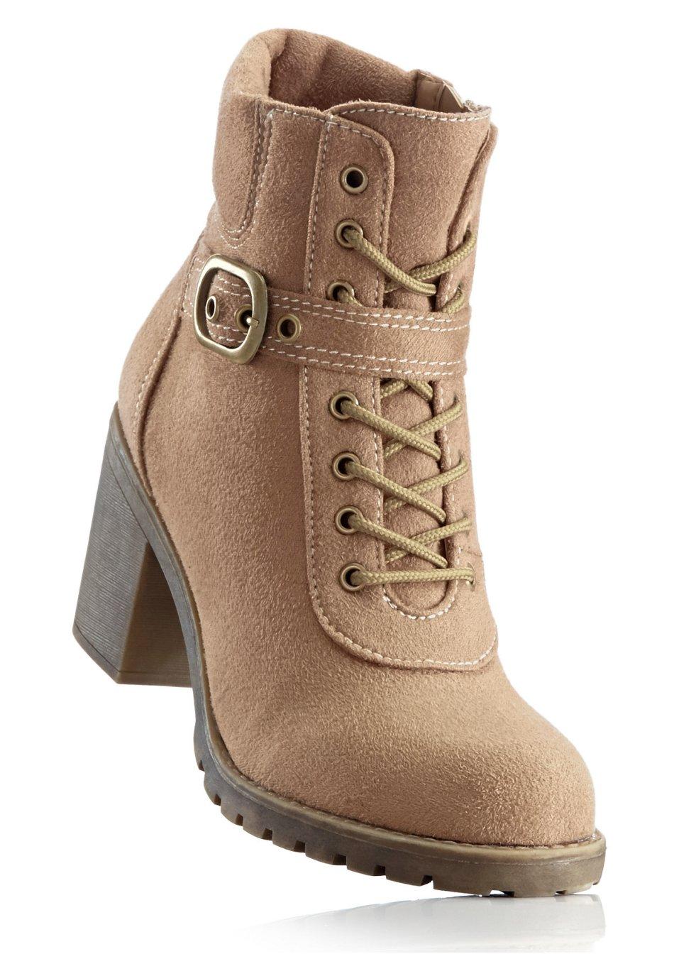 bottines lacets camel chaussures accessoires bpc bonprix collection. Black Bedroom Furniture Sets. Home Design Ideas
