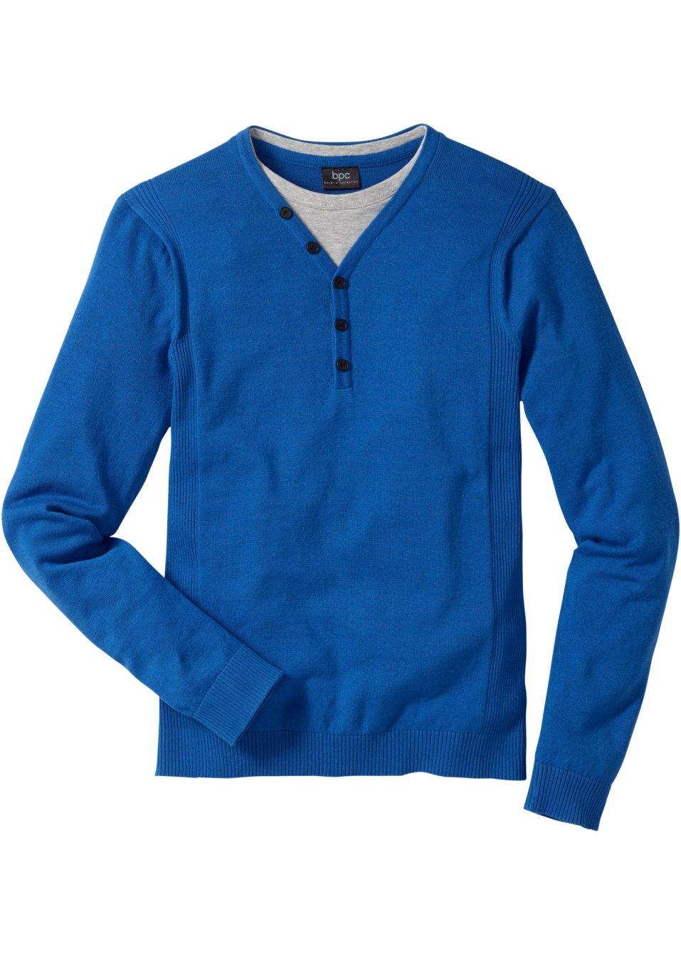 pull style 2en1 regular fit bleu azur bpc bonprix. Black Bedroom Furniture Sets. Home Design Ideas