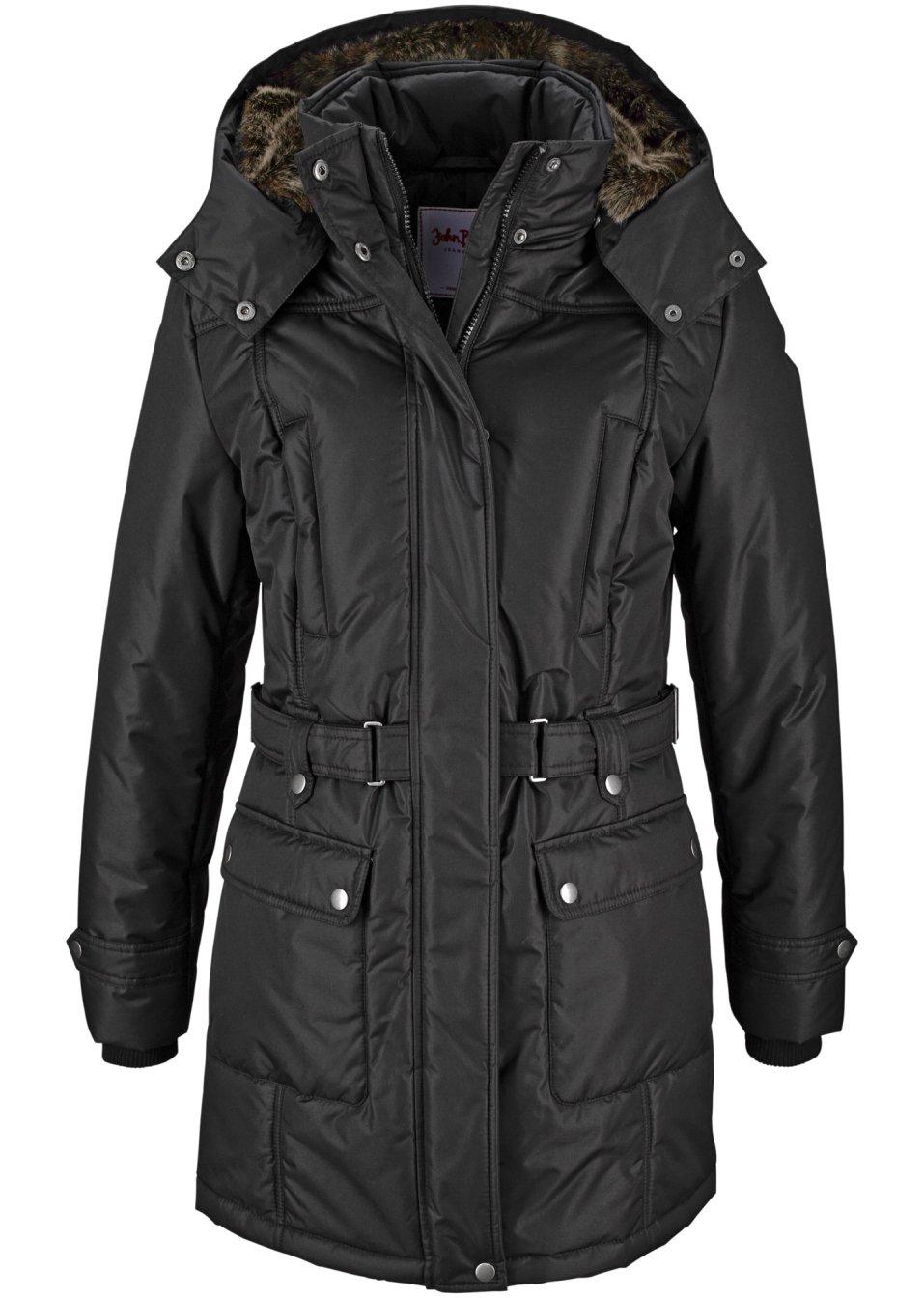 manteau d 39 hiver noir john baner jeanswear commande online. Black Bedroom Furniture Sets. Home Design Ideas