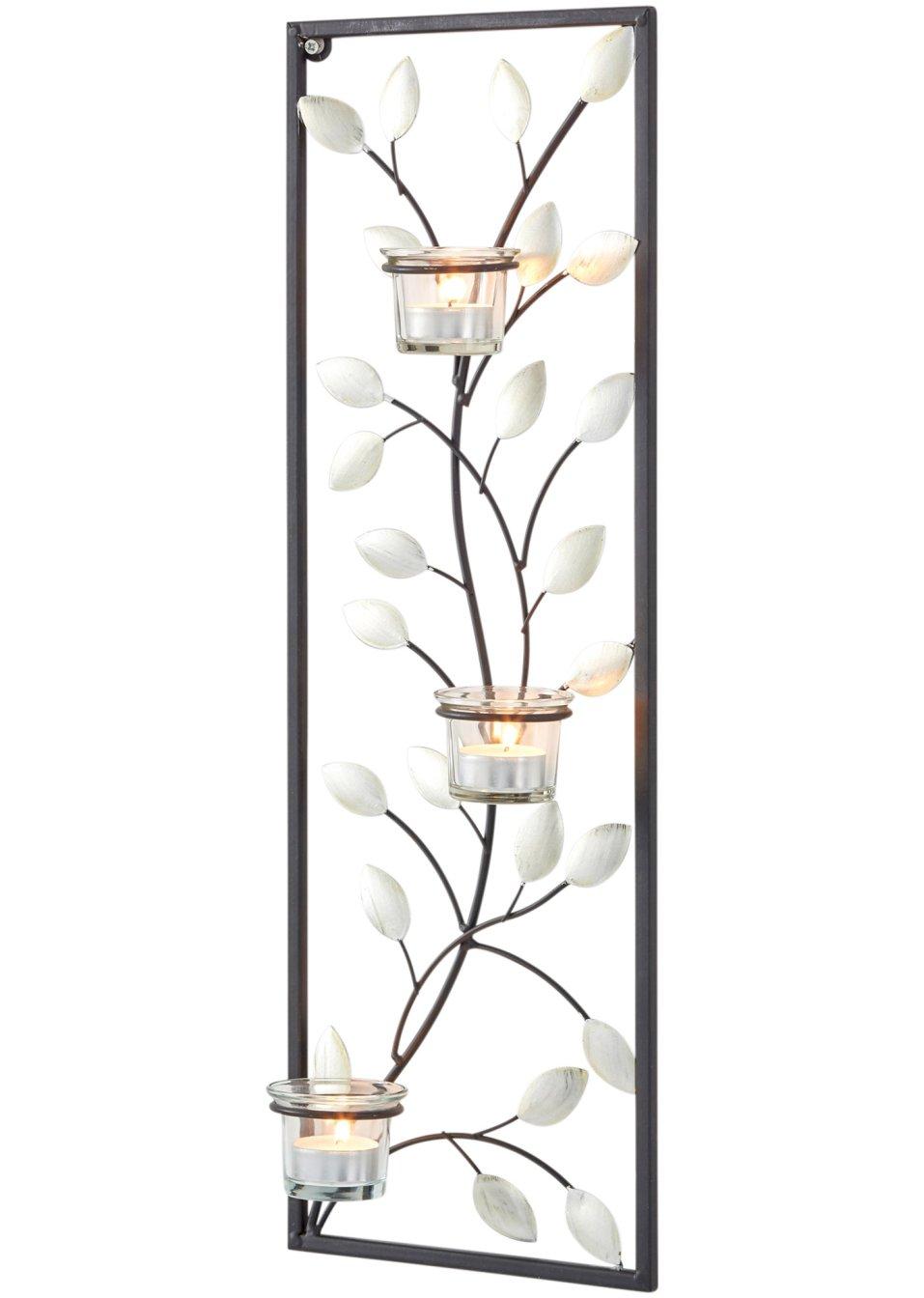 bougeoir mural lilly noir transparent bpc living commande online. Black Bedroom Furniture Sets. Home Design Ideas