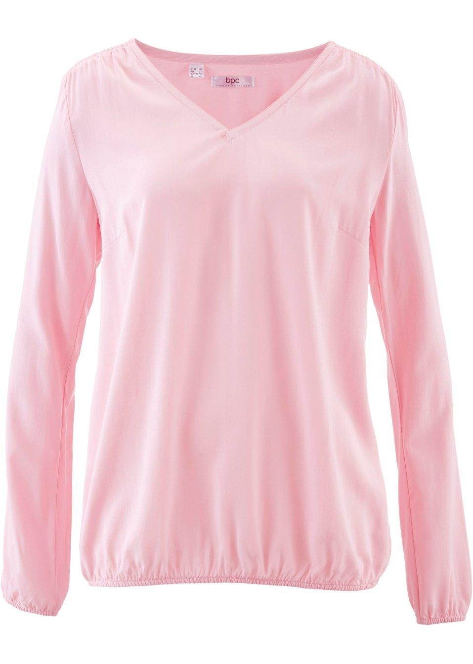 blouse manches longues rose poudr femme bpc bonprix collection. Black Bedroom Furniture Sets. Home Design Ideas