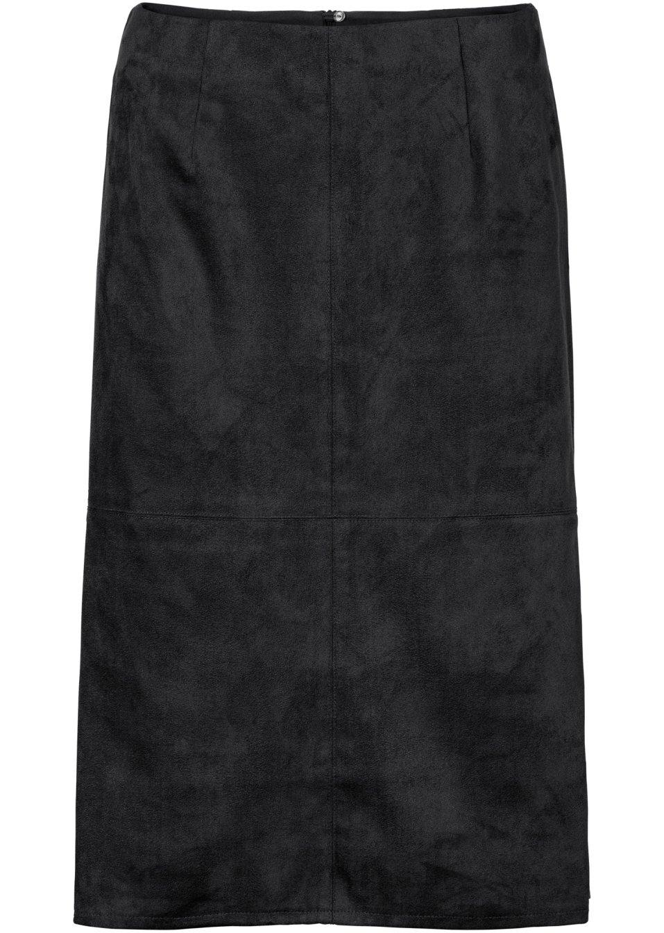 jupe en synth tique imitation cuir noir bodyflirt. Black Bedroom Furniture Sets. Home Design Ideas