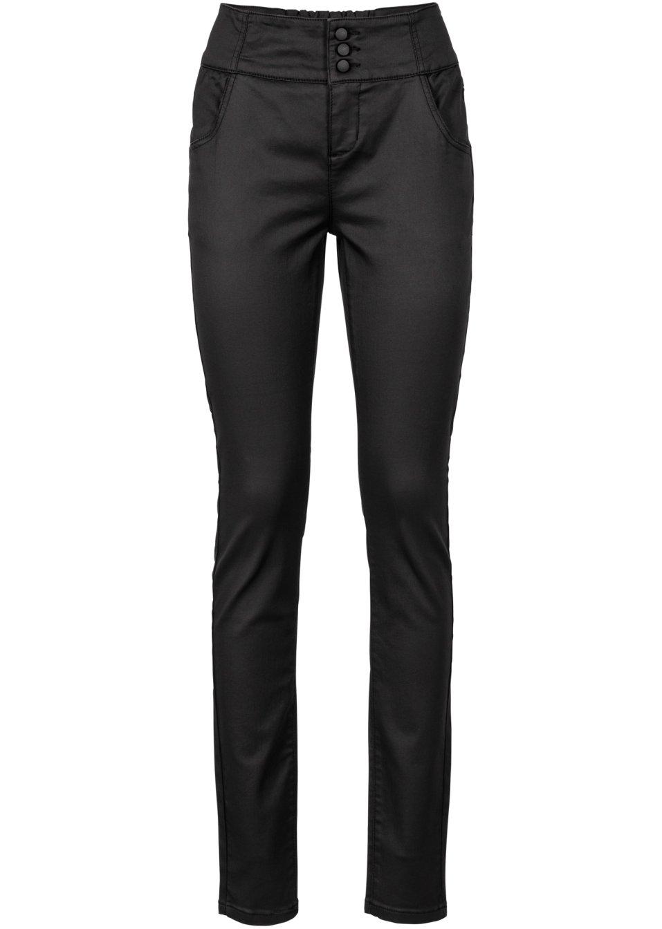 pantalon extensible enduit noir femme bodyflirt. Black Bedroom Furniture Sets. Home Design Ideas