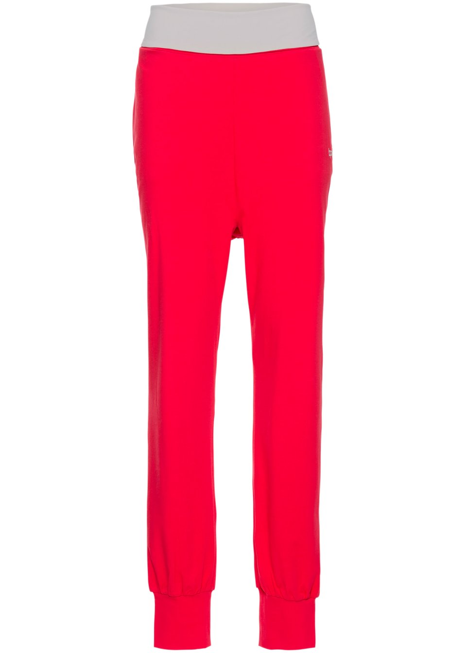 pantalon de jogging avec revers la taille rouge bpc bonprix collection acheter online. Black Bedroom Furniture Sets. Home Design Ideas