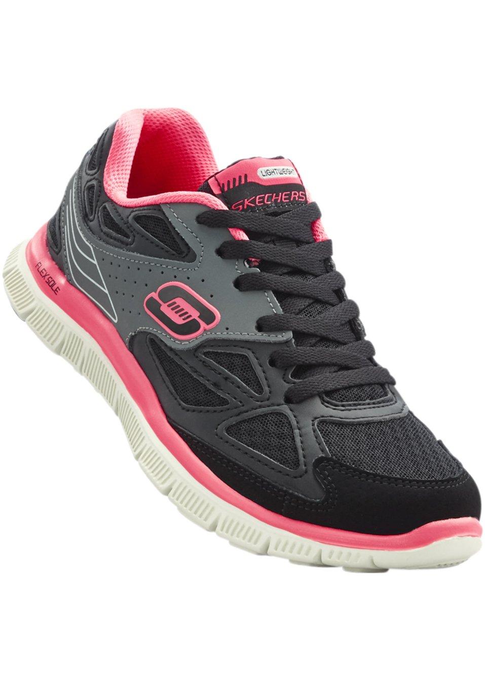Sneakers de skechers m moire de forme noir fuchsia - Surmatela a memoire de forme ...