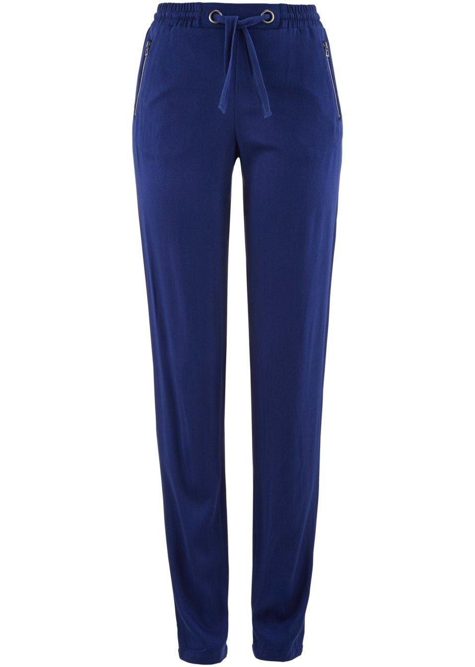 pantalon fluide avec taille lastique bleu nuit femme. Black Bedroom Furniture Sets. Home Design Ideas