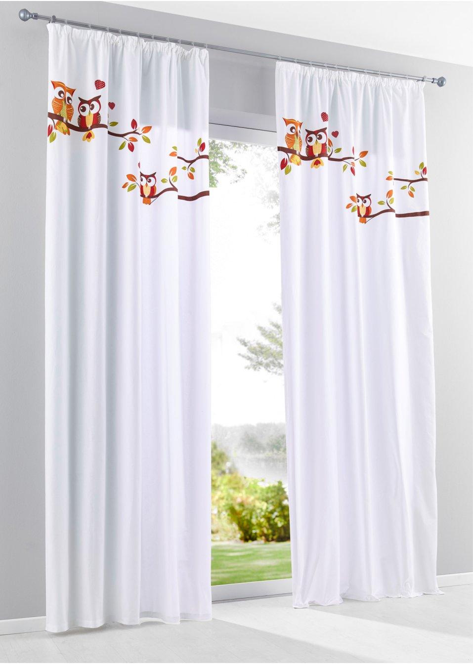 panneau chouette 1 pce blanc orange bpc living commande online. Black Bedroom Furniture Sets. Home Design Ideas
