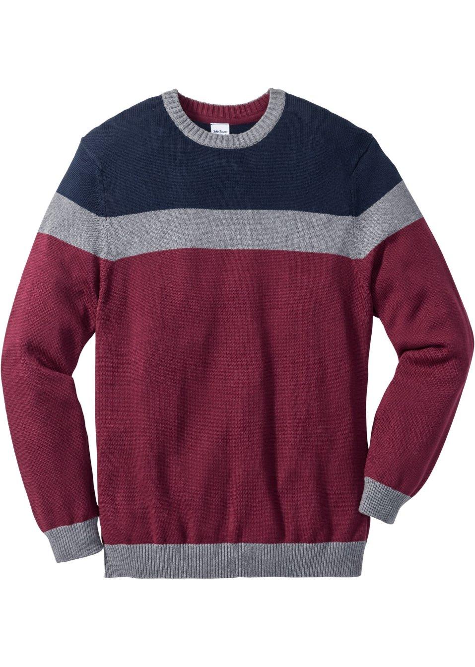 pull regular fit bleu gris rouge homme john baner jeanswear. Black Bedroom Furniture Sets. Home Design Ideas
