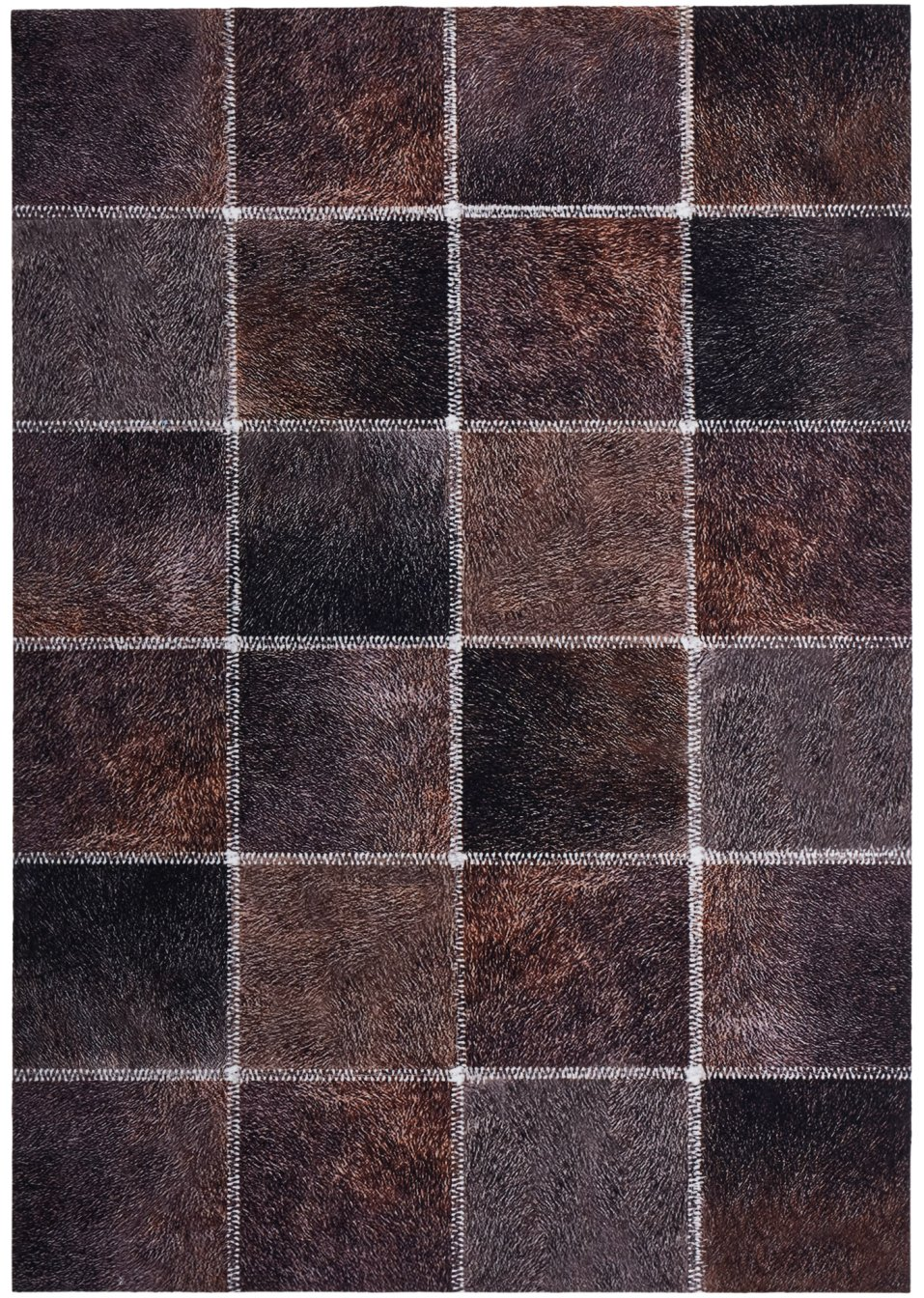tapis imitation peau de b te marron imprim bpc living commande online. Black Bedroom Furniture Sets. Home Design Ideas