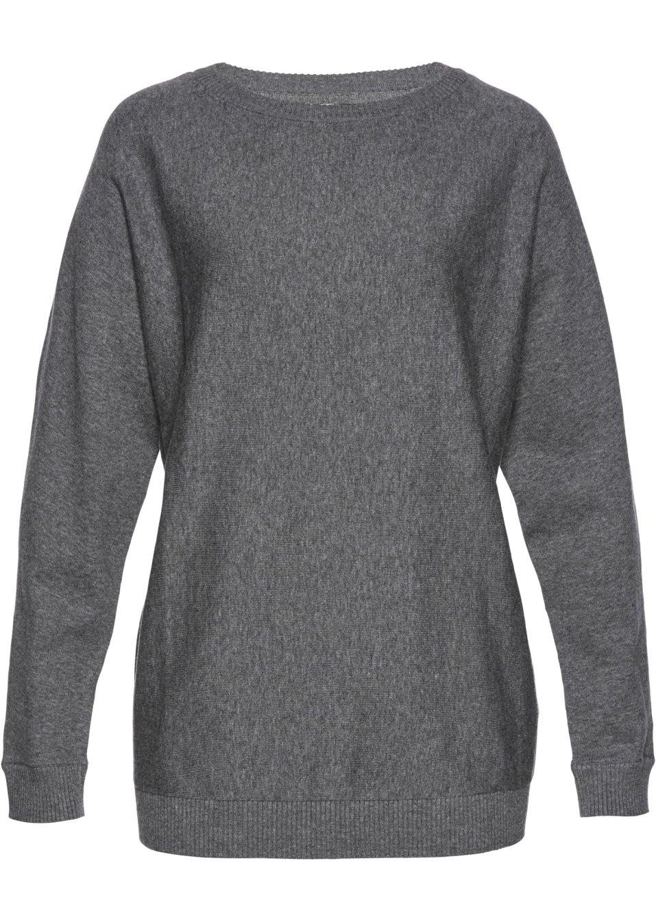 Pull à manches chauve-souris gris chiné - bpc selection acheter online -  bonprix.fr 0ba80b32a2e7