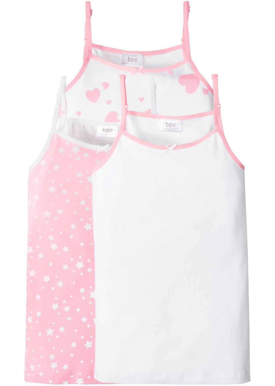 lot de 3 tricots de peau rose poudr blanc bpc bonprix collection acheter online. Black Bedroom Furniture Sets. Home Design Ideas
