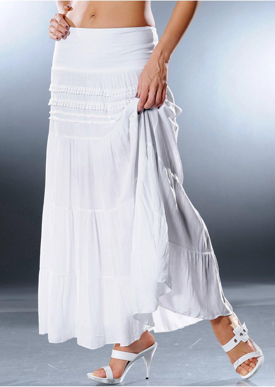 jupe maxi longue blanc bodyflirt commande online. Black Bedroom Furniture Sets. Home Design Ideas